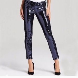 AG jeans blue sequin